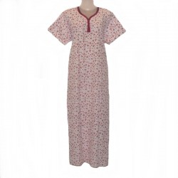 Indian housedress - White and pink