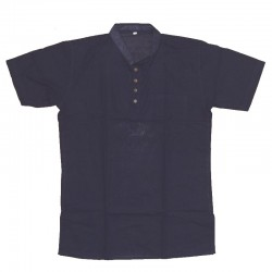 Cotton short-sleeved shirt XL - Dark blue