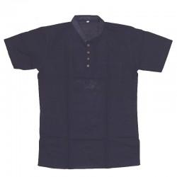 Cotton short-sleeved shirt XL - Dark blue