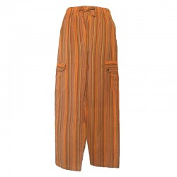 Striped cotton trousers Nepal - Man XL size - Different colors