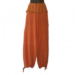 Pants flap plain tone on tone - Orange