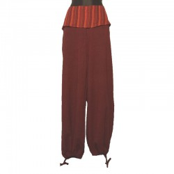 Pants flap plain tone on tone - Maroon