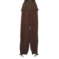 Pantalon rabat uni ton sur ton - Différentes couleurs