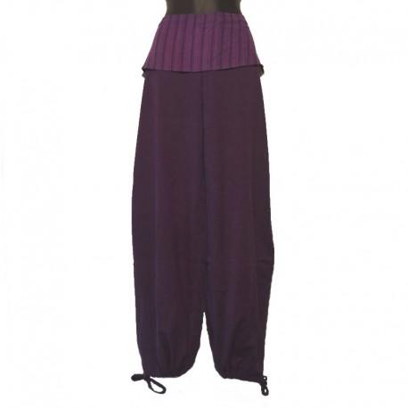 Pants flap plain tone on tone - Purple