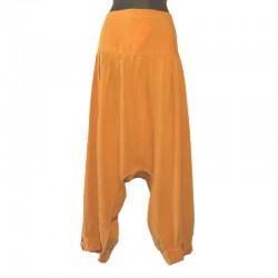 Plain short harem pants - Yellow