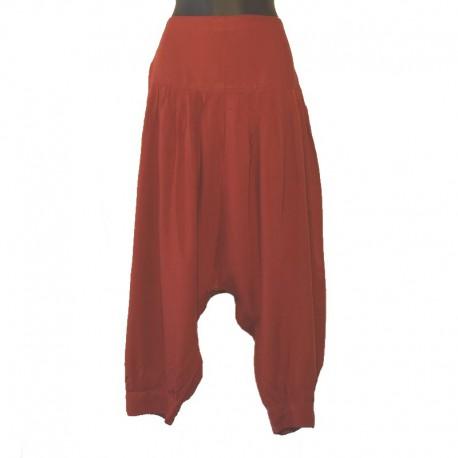Plain short harem pants - Red
