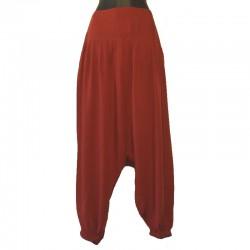 Plain long harem pants - Red