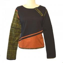 Tee shirt manches longues zippées - Différentes couleurs