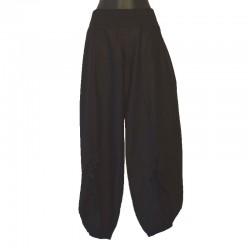Pants Ali baba in black cotton