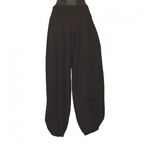 Pantalon coton noir Ali Baba