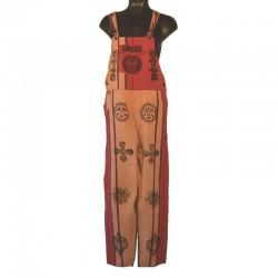 Salopette ethnique - Taille L - Différents motifs et couleurs