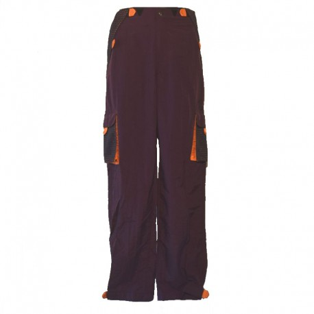 Pantalon homme poches scratch - Violet et orange