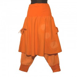 Ethnic cotton harem pants with skirt - Different colors