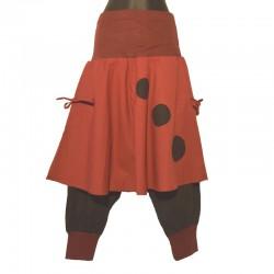 Sarouel ethnique coton avec jupe - Différentes couleurs