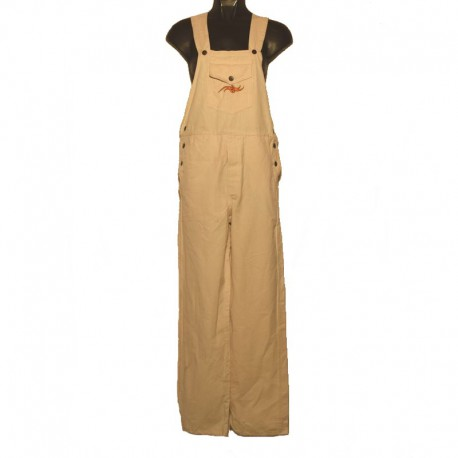 Ethnic embroidery overalls - 8 us size - Cream colored