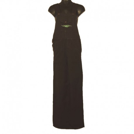 Ethnic embroidery overalls - 8 us size - Black