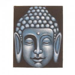 Peinture sur toile 19,5x25 cm - Bouddha bleu