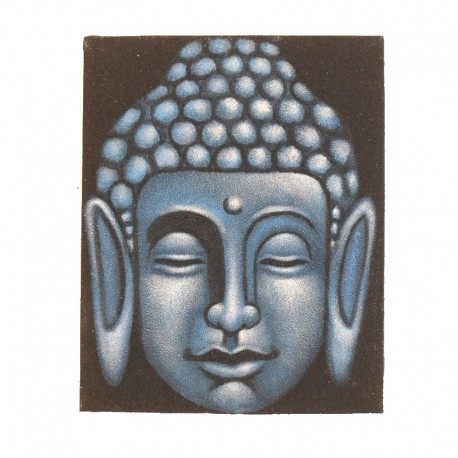 Painting on canvas 19,5x25 cm - Blue Buddha