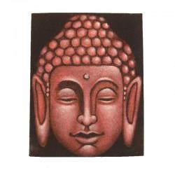 Peinture sur toile 19,5x25 cm - Bouddha rouge