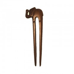 Double Hair stick Elephant wood Ebony