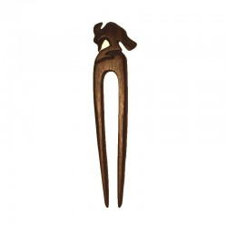 Double Hair stick Woodpecker wood Ebony