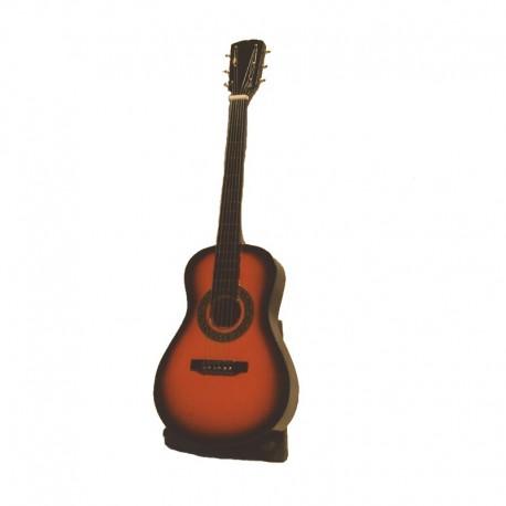 Mini guitare classique H24 cm - modèle 01 - marron et noir