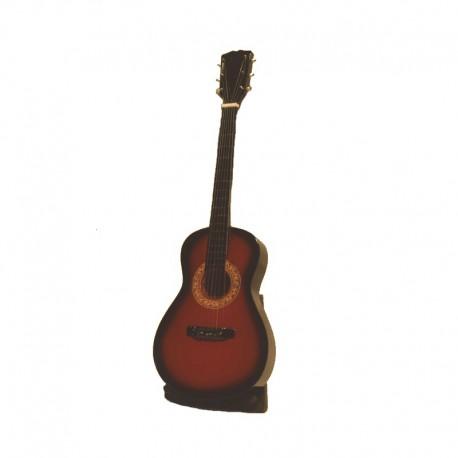 Mini guitare acoustique H24 cm - modèle 02 - marron