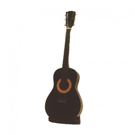 Mini guitare acoustique H24 cm - modèle 05 - prune