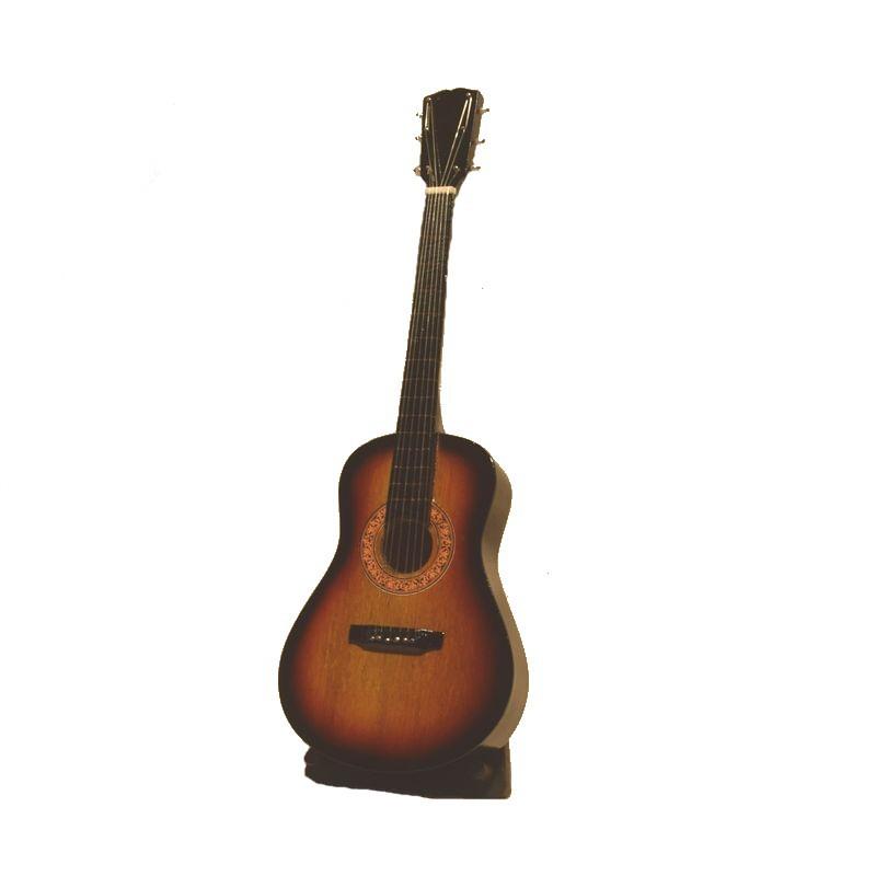 Objet de d coration guitare miniature instrument bois for Decoration murale guitare