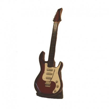 Guitare électrique H24 cm - modèle 07 - rouge et blanc