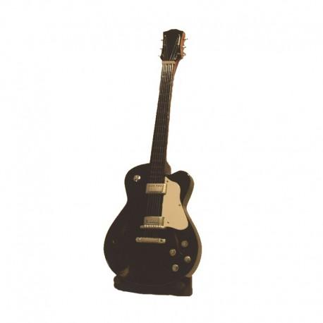Guitare électrique miniature bois - modèle 10 - noir et blanc
