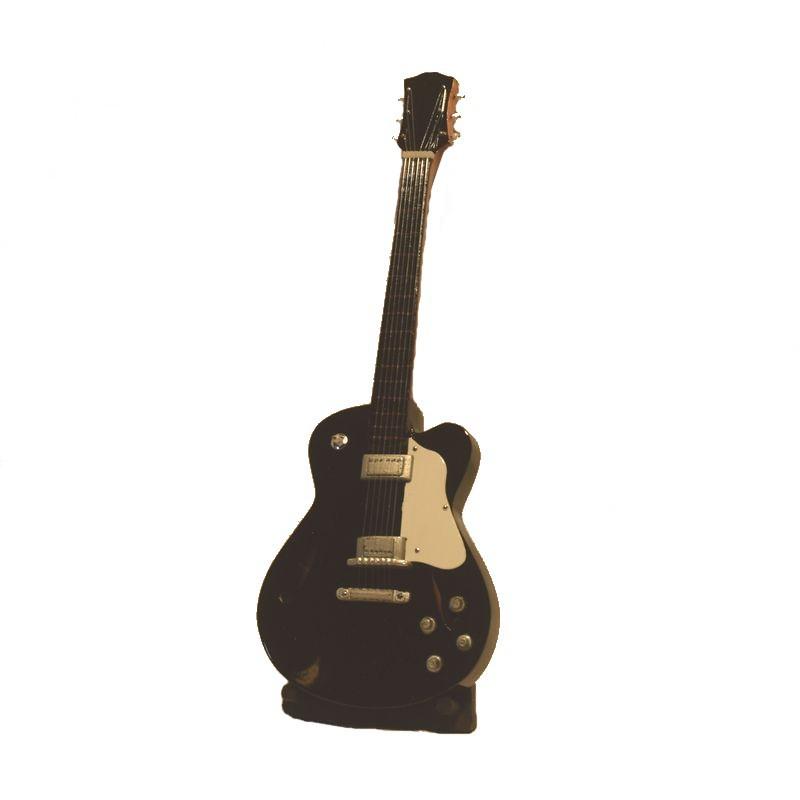 guitare lectrique miniature en bois vernis. Black Bedroom Furniture Sets. Home Design Ideas
