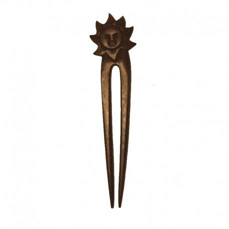Hair stick Sun in ebony wood