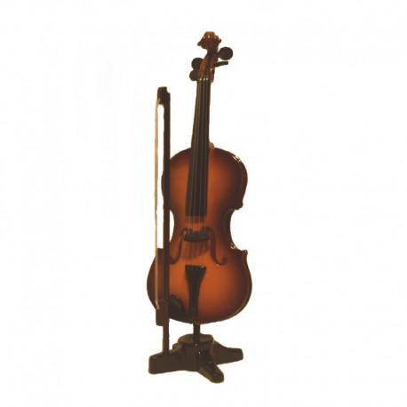 Violon miniature bois vernis