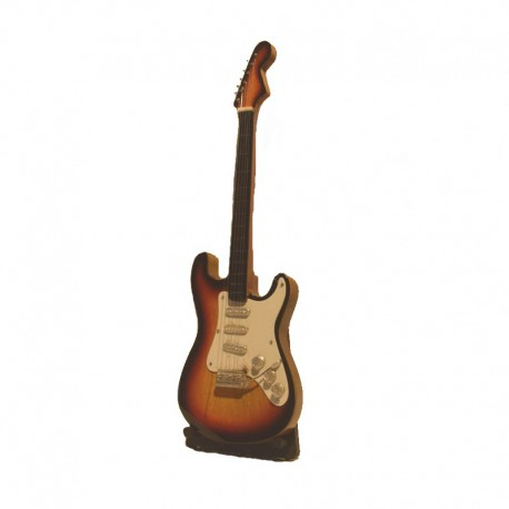 Wood electric guitar miniature - model 11