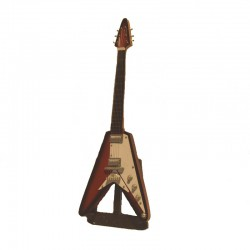 Wood electric guitar miniature hard rock - model 14