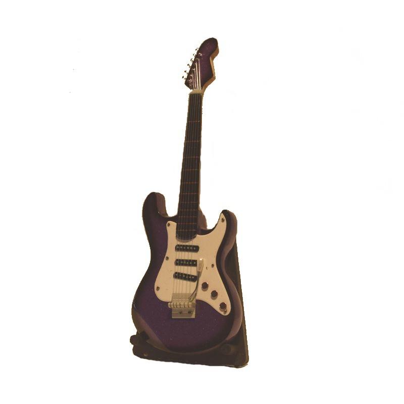 instrument musique miniature guitare lectrique en bois. Black Bedroom Furniture Sets. Home Design Ideas
