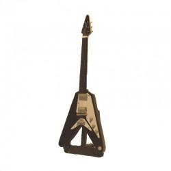 Guitare électrique miniature bois hard rock - modèle 17