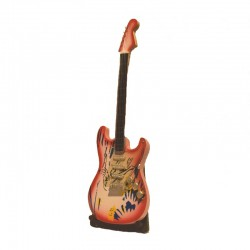 Wood electric guitar miniature - model 18