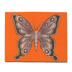 Painting naive animals 25x19,5 cm - Butterfly