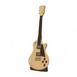 Wood electric guitar miniature - model 23