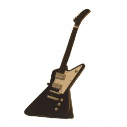Wood electric guitar miniature hard rock - model 30