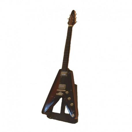 Wood electric guitar miniature hard rock - model 32