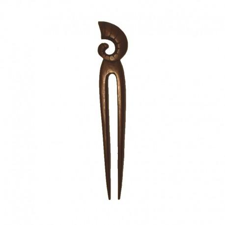 Pic à cheveux Escargot en bois d'ébène