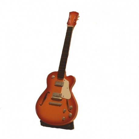 Wood electric guitar miniature - model 31
