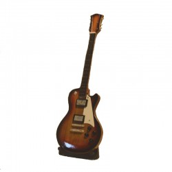 Wood electric guitar miniature - model 34