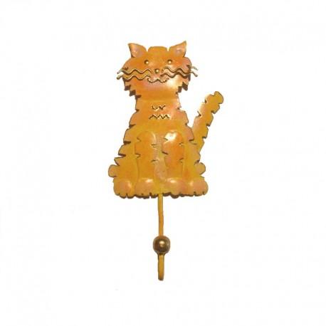 Portemanteau crochet Chat métal H 21 cm