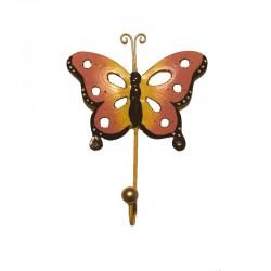 Metal pink Butterfly coat hanger H19 cm