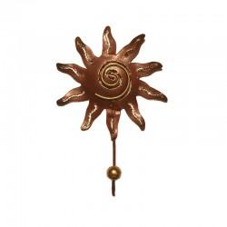Portemanteau crochet Soleil métal H 19 cm