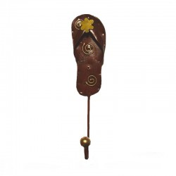 Metal brown Tongue coat hanger H22 cm